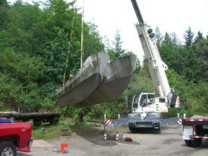 13-crane and pontoons