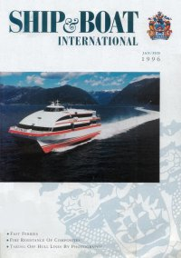 cover of Ship & Boat International with Foilcat hydrofoil