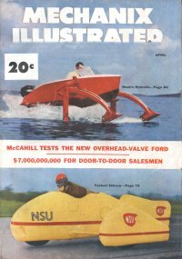 Hydrofin Hydrofoil in Mechanix Illustrated April 1952