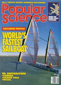 World's Fastest Sailboat Article -- Popular Science January 1991